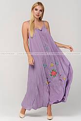 Стильный женский сарафан,цвет сирень.