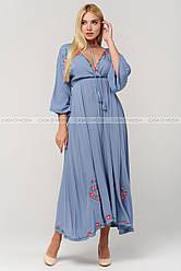 Летние шикарное женское платье,цвет голубой.