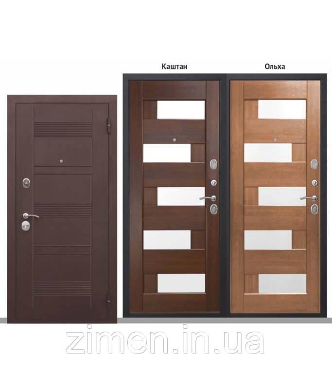 Входная дверь 90 мм БЕРГАМО Мідний антик Царга