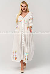 Шикарное женское платье,цвет белый.