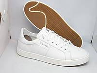 Мужские кожаные кеды белого цвета!!! 100% натуральная кожа!!!