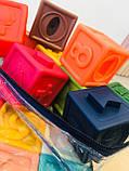 Кубики тактильные 12 шт в сумочке, фото 9