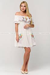 Красивое женское платье-туника,цвет белый