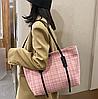Стильна твідовий сумка шоппер, фото 4