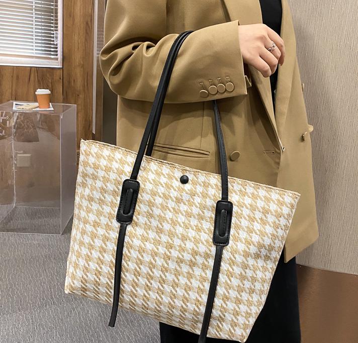 Стильна твідовий сумка шоппер