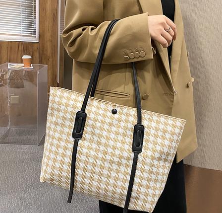 Стильна твідовий сумка шоппер, фото 2