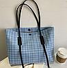 Стильна твідовий сумка шоппер, фото 3