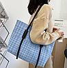 Стильна твідовий сумка шоппер, фото 5