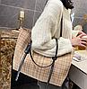 Стильна твідовий сумка шоппер, фото 6