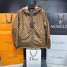 Чоловіча куртка вітровка Louis Vuitton CK2523 коричнева