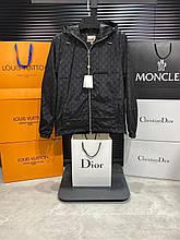 Чоловіча куртка вітровка Gucci CK2524 чорна