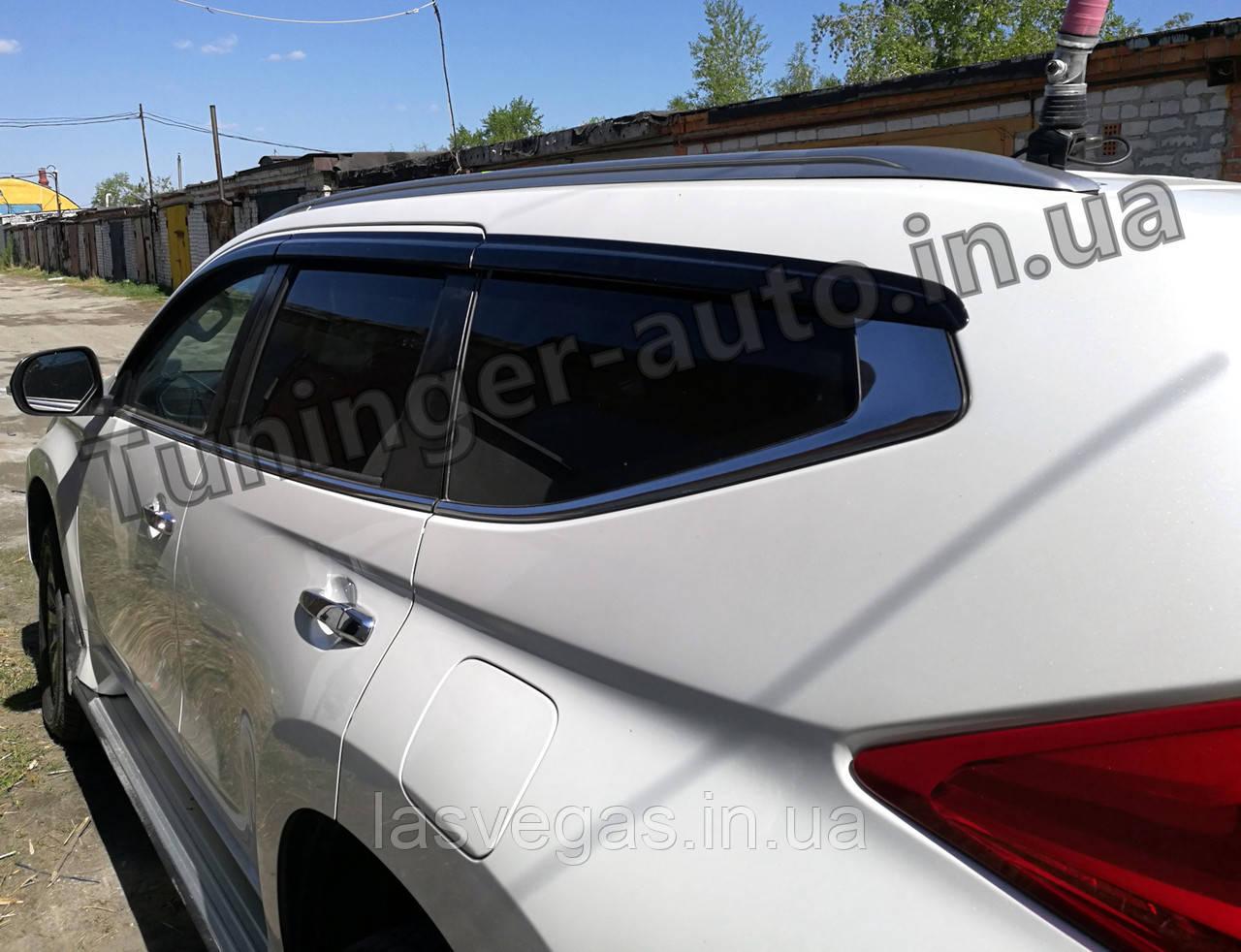 Дефлекторы окон (ветровики) Mitsubishi Pajero Sport 2015-2021 6шт. (Autoclover D752)