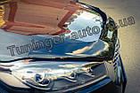 Дефлектор капоту, мухобойка Kia Sorento Prime 2015-2020 (Sim), фото 4
