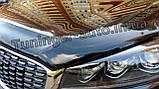 Дефлектор капоту, мухобойка Kia Sorento Prime 2015-2020 (Sim), фото 5