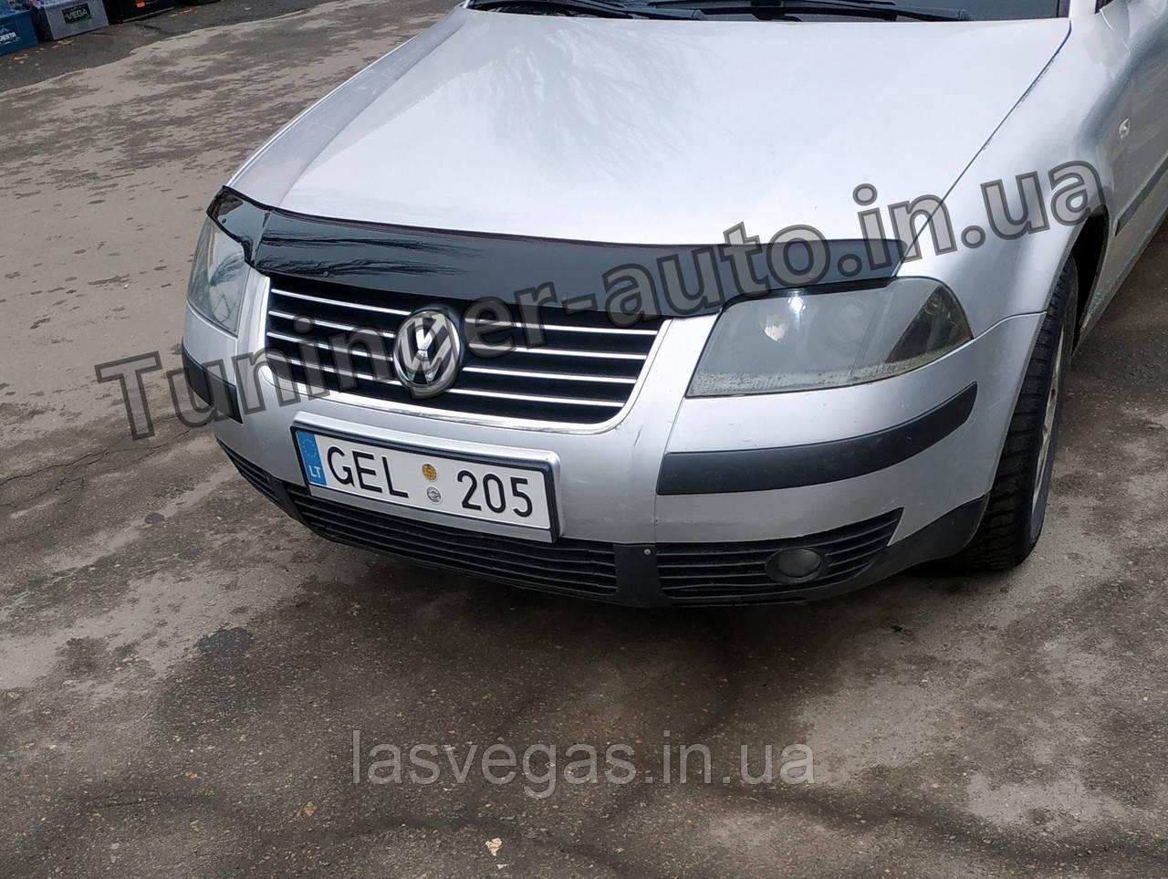 Дефлектор капоту, мухобойка Volkswagen Passat B5 рестайлінг 2002-2005 (ANV)