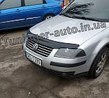 Дефлектор капоту, мухобойка Volkswagen Passat B5 рестайлінг 2002-2005 (ANV), фото 2