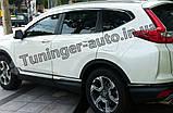 Дефлекторы окон, ветровики хромированные Honda CR-V 2017-   6шт. (Autoclover/D717), фото 5