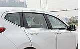 Дефлекторы окон, ветровики хромированные Honda CR-V 2017-   6шт. (Autoclover/D717), фото 7