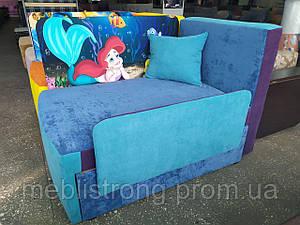 Детский диван с нишей для ребенка Мультик - принт Русалочка