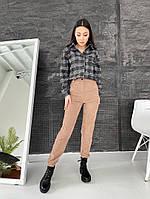 Жіночі стильні вельветові штани з кишенями, фото 1