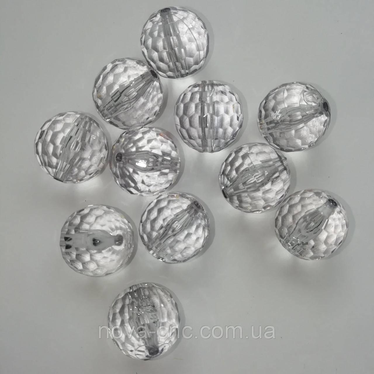 "Бусины "" Шар Гранатик"" акрил светло-серый 18 мм 500 грамм"