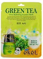 Корейская тканевая маска для лица EKEL Green Tea