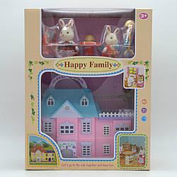 Двоповерховий будиночок Щаслива сім'я з флоксовим тваринами