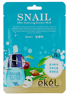 Корейская антистрессовая тканевая маска с секретом улитки Ekel Snail Ultra Hydrating Essence Mask