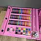 Детский набор для рисования 208 предметов в чемоданчике с мольбертом творчества юного художника детей девочке, фото 6