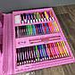 Детский набор для рисования 208 предметов в чемоданчике с мольбертом творчества юного художника детей девочке, фото 7