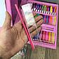 Детский набор для рисования 208 предметов в чемоданчике с мольбертом творчества юного художника детей девочке, фото 8