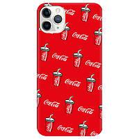 Чохол для Apple iPhone 11 Pro яскраво-червоний матовий soft touch Coca Cola