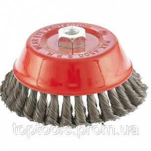 """Щітка """"чашка"""" для КШМ 150 мм, М14, кручений дріт 0.35 мм,  MTX"""