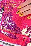 Женский рюкзак с пайетками малиновый код 7-5068, фото 2