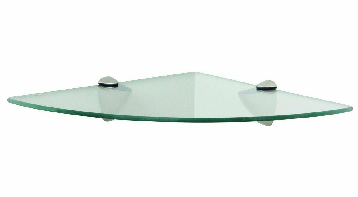 Полка угловая 106 с прозрачным стеклом