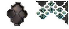 Форма для виробництва плитки «Конюшина – фігурний»