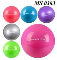 Фитбол 75 см, Мяч для фитнеса Profi MS 0383