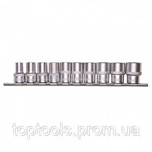 Набор торцевых головок 1/2, шестигранні, CrV, 10 шт, 10-22 мм Stels