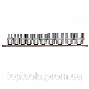 Набор универсальных торцевых головок 3/8, SpLine, CrV, 10 шт, 8-19 мм Stels