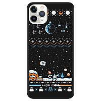 Чехол для Apple iPhone 11 Pro черный матовый soft touch Star wars