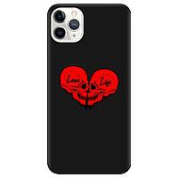Чехол для Apple iPhone 11 Pro черный матовый soft touch Love-Live
