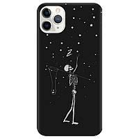 Чехол для Apple iPhone 11 Pro черный матовый soft touch Stars night