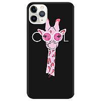 Чехол для Apple iPhone 11 Pro черный матовый soft touch Cool giraffe
