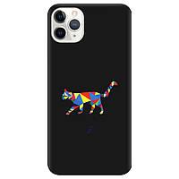 Чехол для Apple iPhone 11 Pro черный матовый soft touch Cat