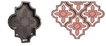 Форма для виробництва тротуарної плитки «Конюшина – візерунковий»