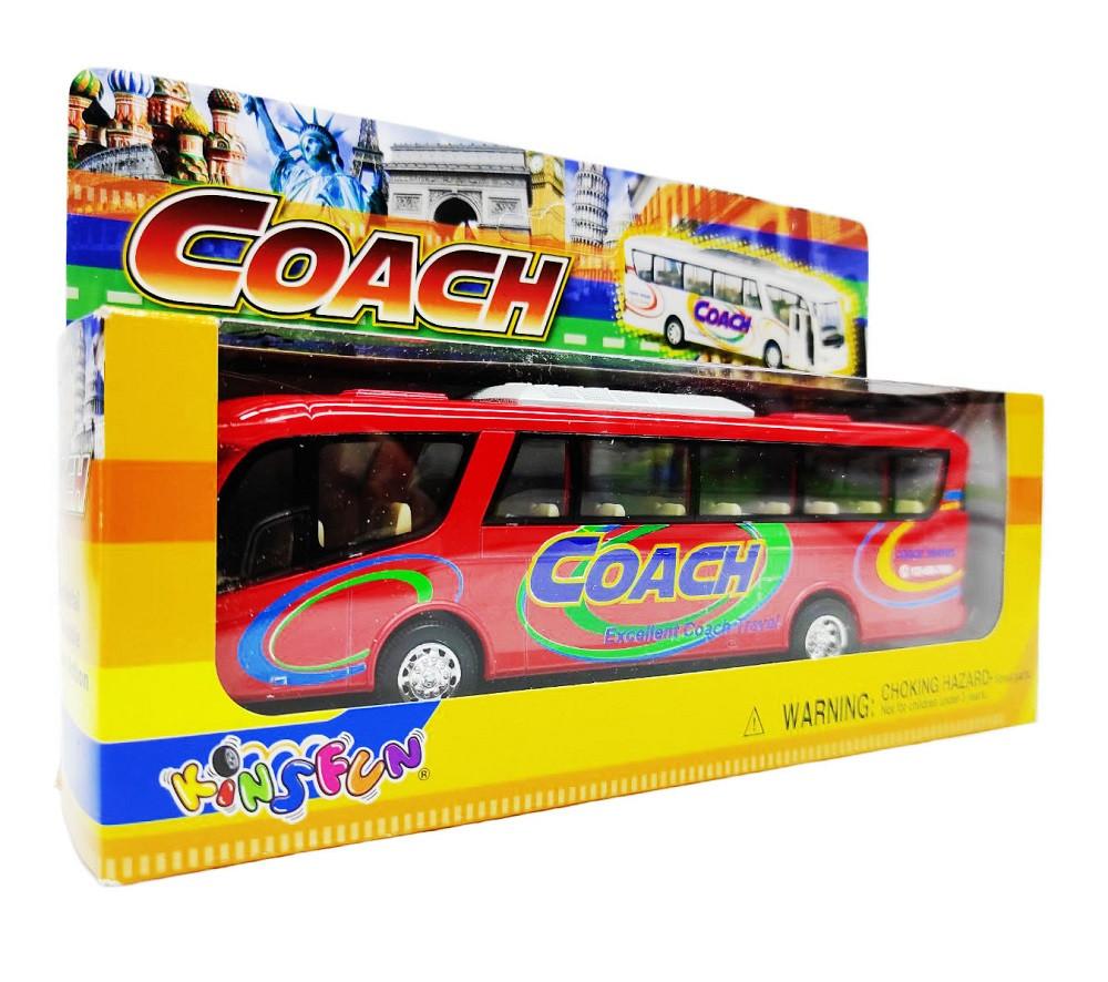 Автобус Coach металлический KS7101W