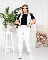 Жіноча стильна жилетка з еко-шкіри, фото 1
