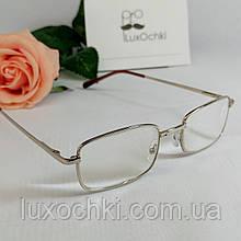 +0.75 Готові чоловічі окуляри для корекції зору в металевій оправі скло