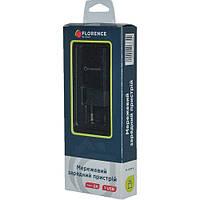 Зарядний пристрій FLORENCE 1USB 2A Black (FL-1020-K)