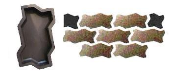Форма для производства тротуарной плитки «Волна гладкая»